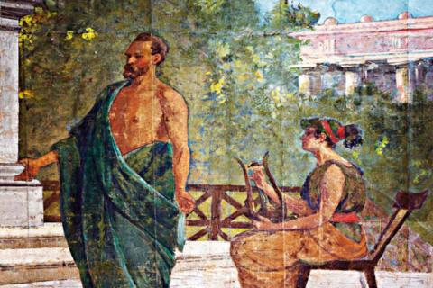Aeschylus speaking in Syracuse. (Public Domain)