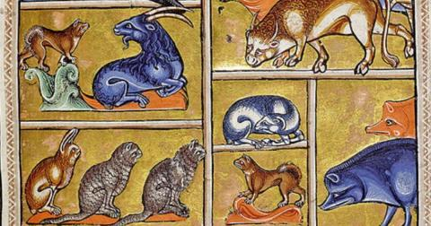 Detail from the 12th century Aberdeen Bestiary. (Public Domain)